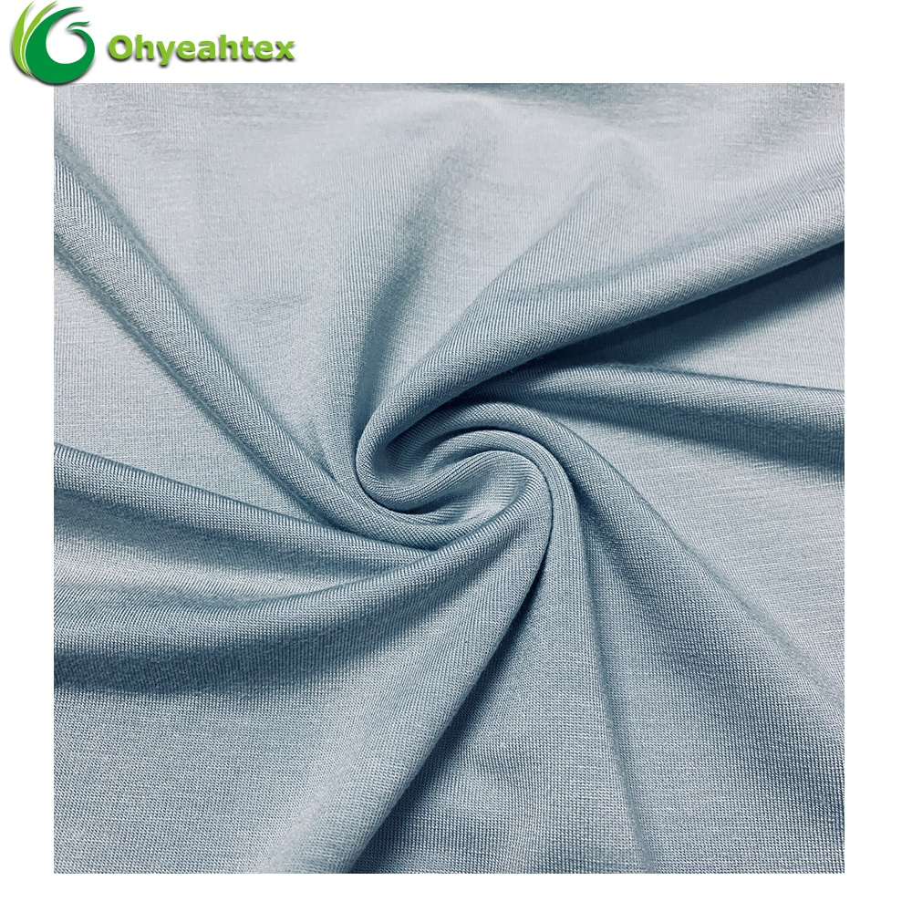 UPF 50 Anti-UV Organic Knitting 95% Bamboo 5% Spandex Fabric for Underwear