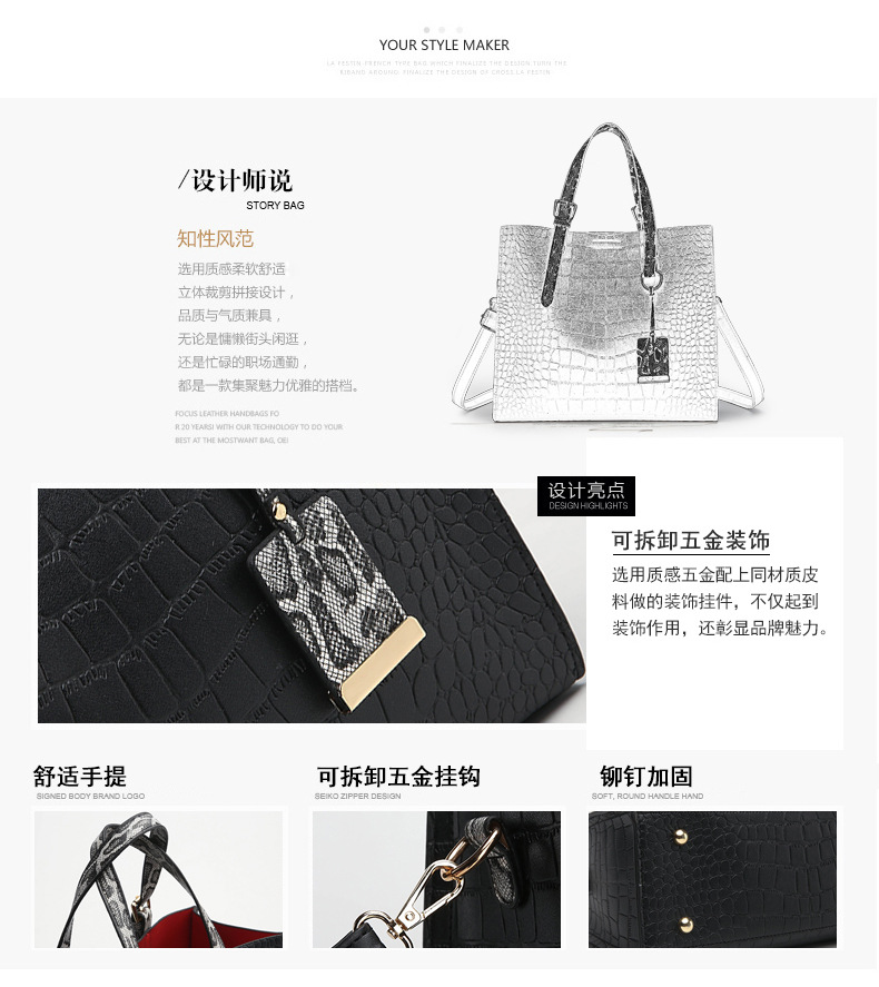 QLB014 coffee luxury crossbody wholesale from china fashion women bag systyle handbags
