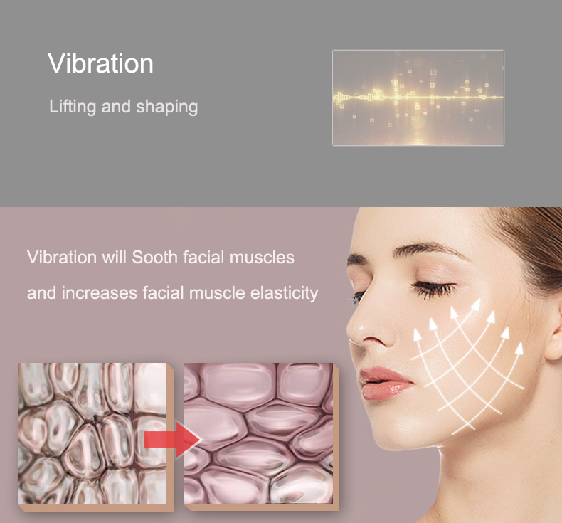 Brand new face slimming lifting skin rejuvenation face lifting device ultrasonic facial massager
