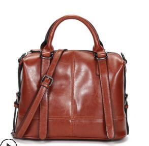 Женская сумка из натуральной кожи, мягкая кожаная модная сумка на плечо, Большая вместительная повседневная женская сумка, повседневная су...(Китай)