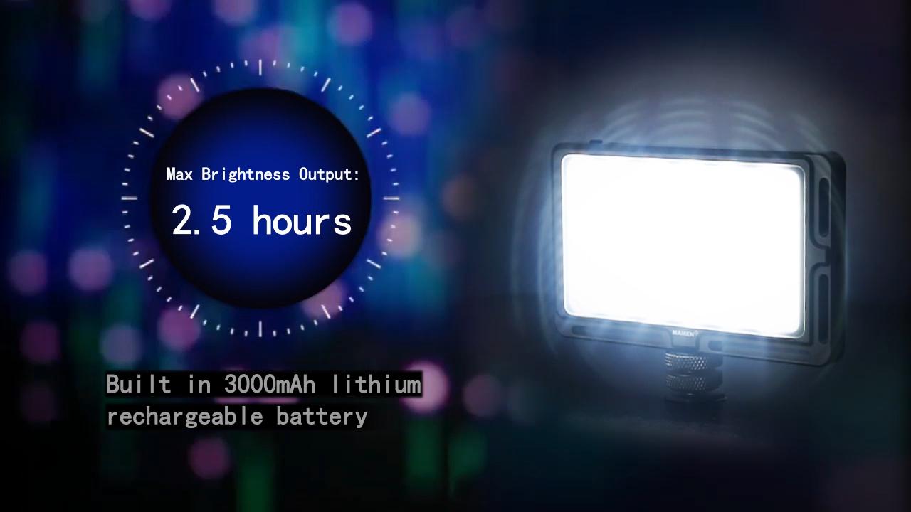 Mamen Bi-Màu LED Máy Ảnh Video Ánh Sáng Nhiếp Ảnh Video Ánh Sáng Màn Hình LCD Hiển Thị Trang Điểm Ánh Sáng