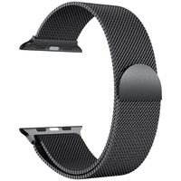 Stainless Steel Magnetic Mesh Milanese Loop Watch Band For Apple Watch Strap