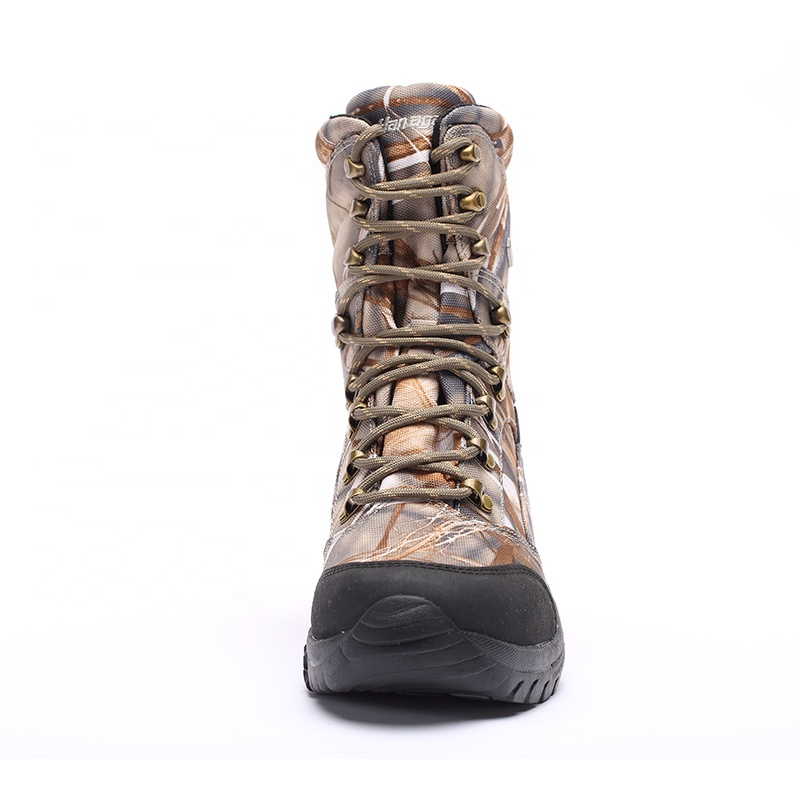 China factory price New design waterproof  camo  boots waterproof hunting shoes for men
