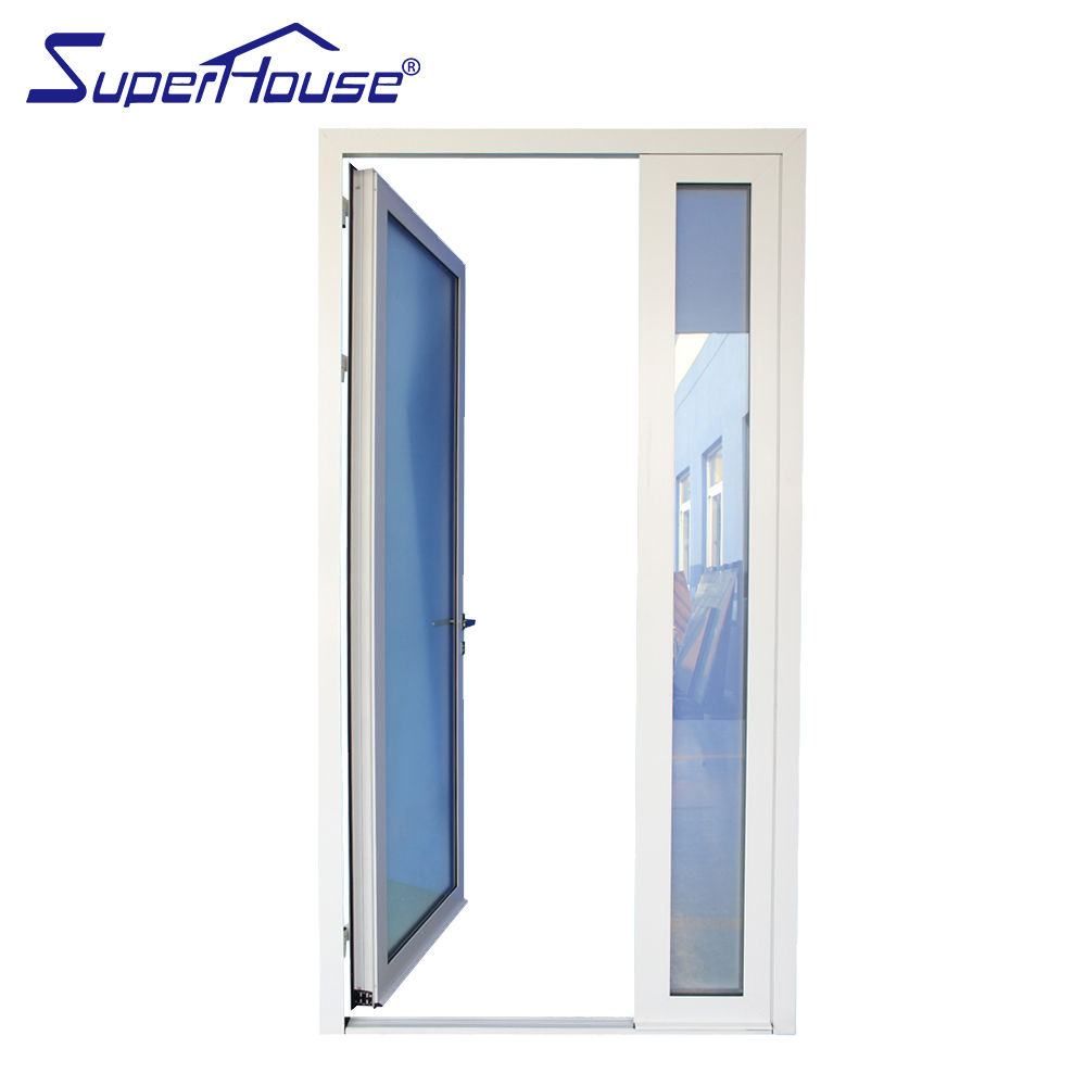 Double glazed aluminum white color hinged door commercial french doors Australia standard