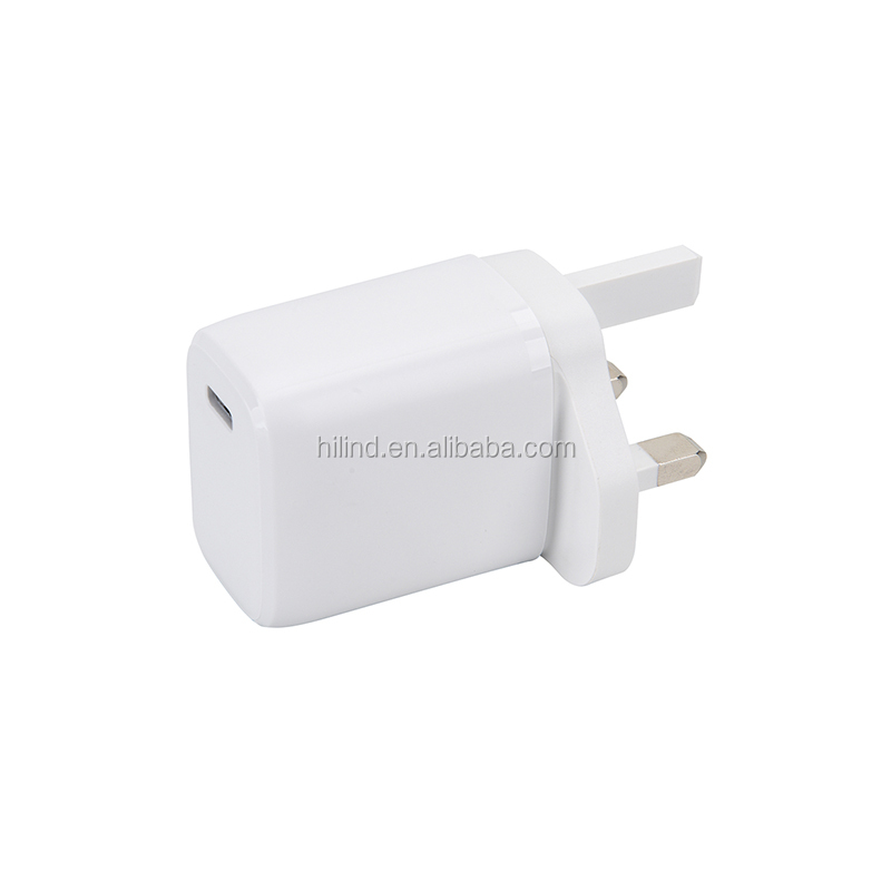 2021 new products mobile phone fast charging pd charger 20w with uk eu us kr plug