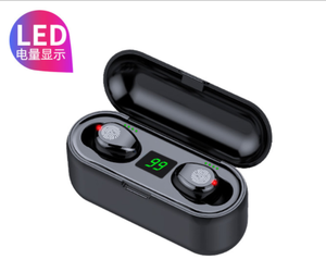 F9 touch control waterproof earphone portable charger wireless BT