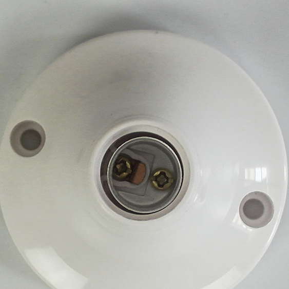 Small Round Lamp Holder Light Display Stand Lamp Holder <strong>E27</strong> Screw Cap Flat <strong>Socket</strong> E14 White Lamp Holder