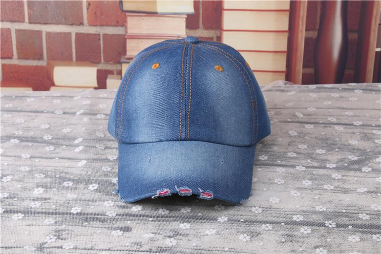 Custom Denim Jean Cotton Vintage Baseball Cap Hats