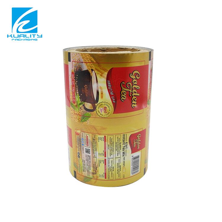 Подгонянный гибкий пластиковый бопп VMPET PA CPP полиэтиленовая пленка рулон кофе порошок молока упаковочный материал