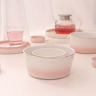 Wholesale cheap prices pink blue personalized restaurant ceramic salad mixing bowls