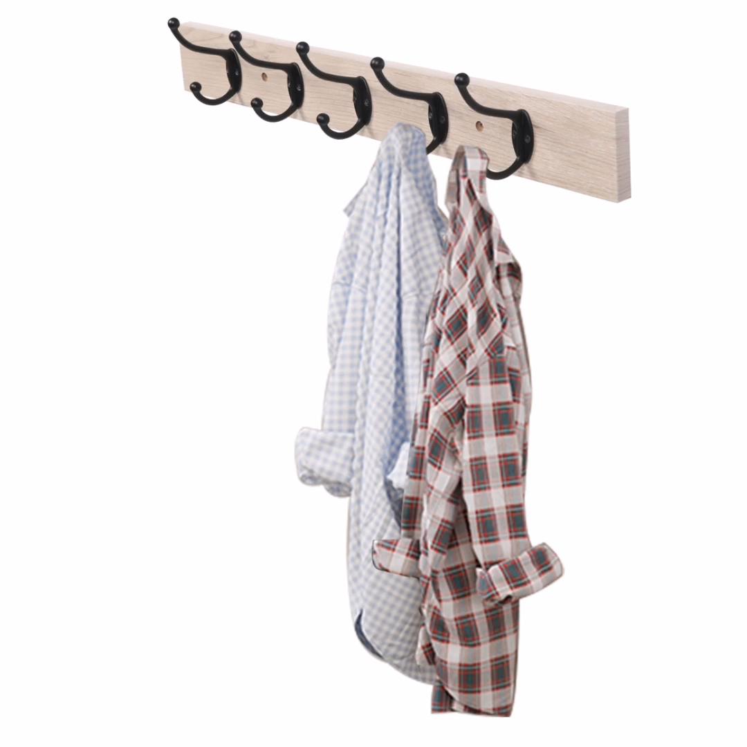 משלוח חינם כניסה כפרי בציר רכוב עץ מפתח בגדי מעיל קיר וו