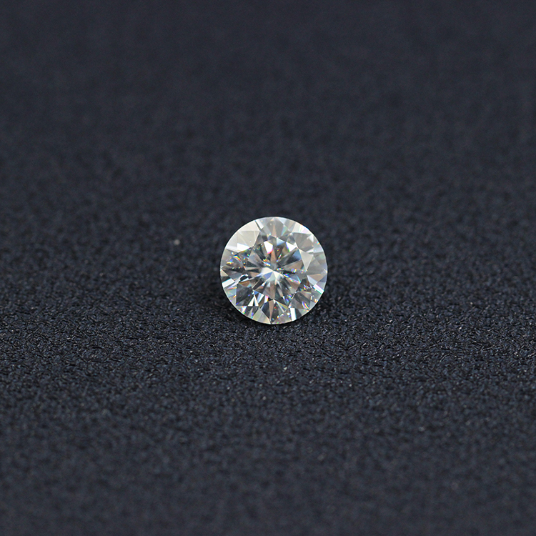 Certified White Colorless 6.5mm EF Moissanites Synthetic Diamond For Engagement Ring