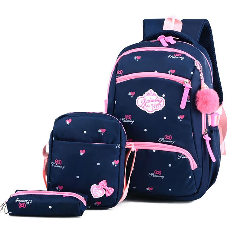 3 pcs girl shoulder school bags online kids school backpack