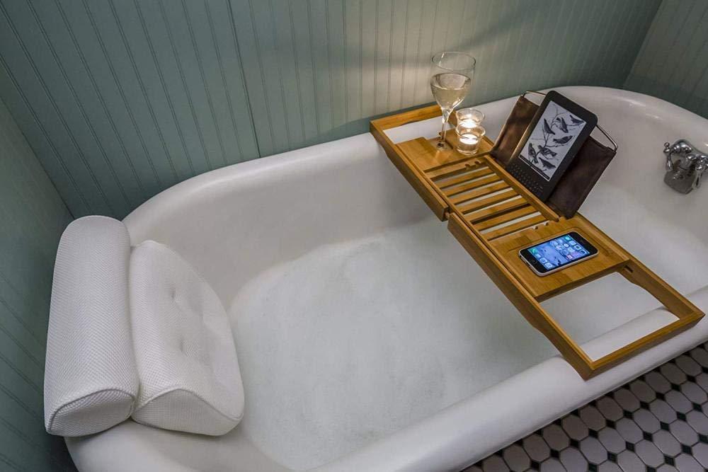 Cushion Spa Sushion Suction Cupa Comfortable Adjustable Bath Tub 3D Mesh Pillow