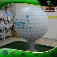 Giant Inflatable Advertising Golf Shape Modeling Balloon Customized Inflatable Golf Balls Costume