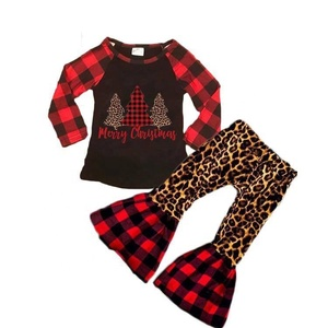 Sue Lucky 2019 Winter Design Fashin Baby Girls Cute Christmas Tree Boutique Outfit Ready to ship Custom Design Baby Clothes