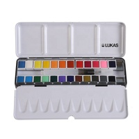 artist level half pan watercolor portable travel tin box paint set solid watercolour powder