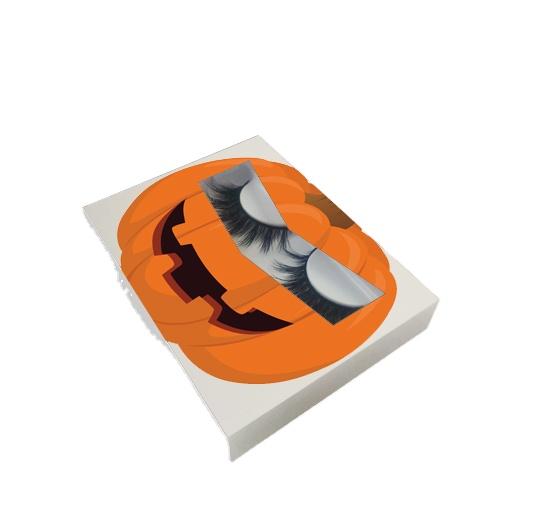 Maak Je Eigen Merk 3d Nertsen Wimper Verpakking Wimper Doos Private Label Halloween Lash Doos