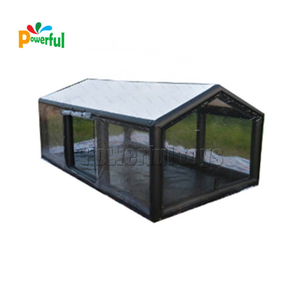 Pitched roof prevent water and snow inflatable car tent garage