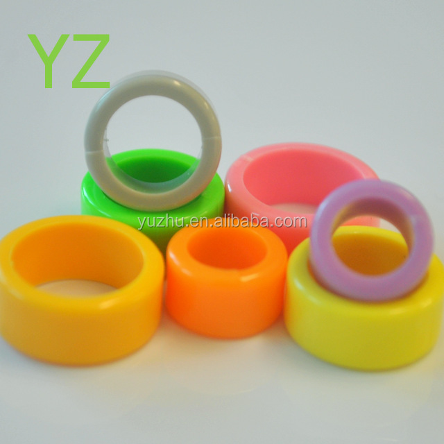 YZ factory <strong>produced</strong> 6 COLORS thickened blank spot plastic ring pigeon ring pigeon products <strong>Chicken</strong> ring size6mm-18mm