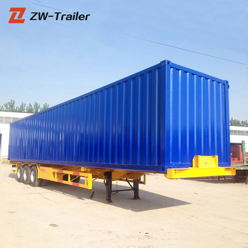 Muli-Color Vista Frontale Scatola Chiusa Cargo Trailer Barn Door 3 Assi Semirimorchio