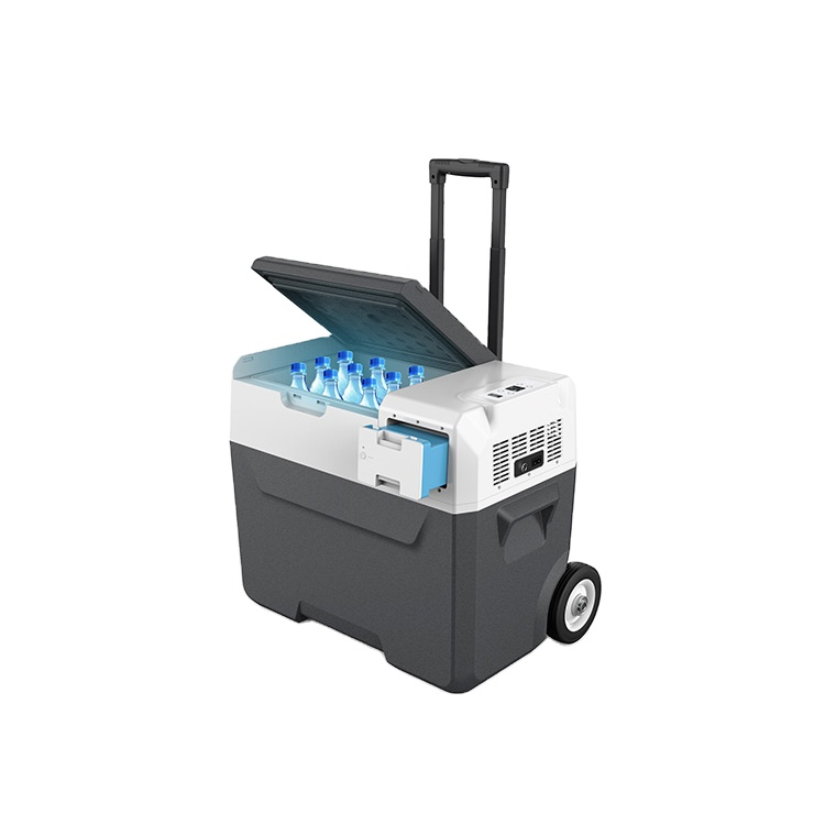 Mini refrigerador portátil para coche, compresor para bebidas de 50L, 52QT, con USB
