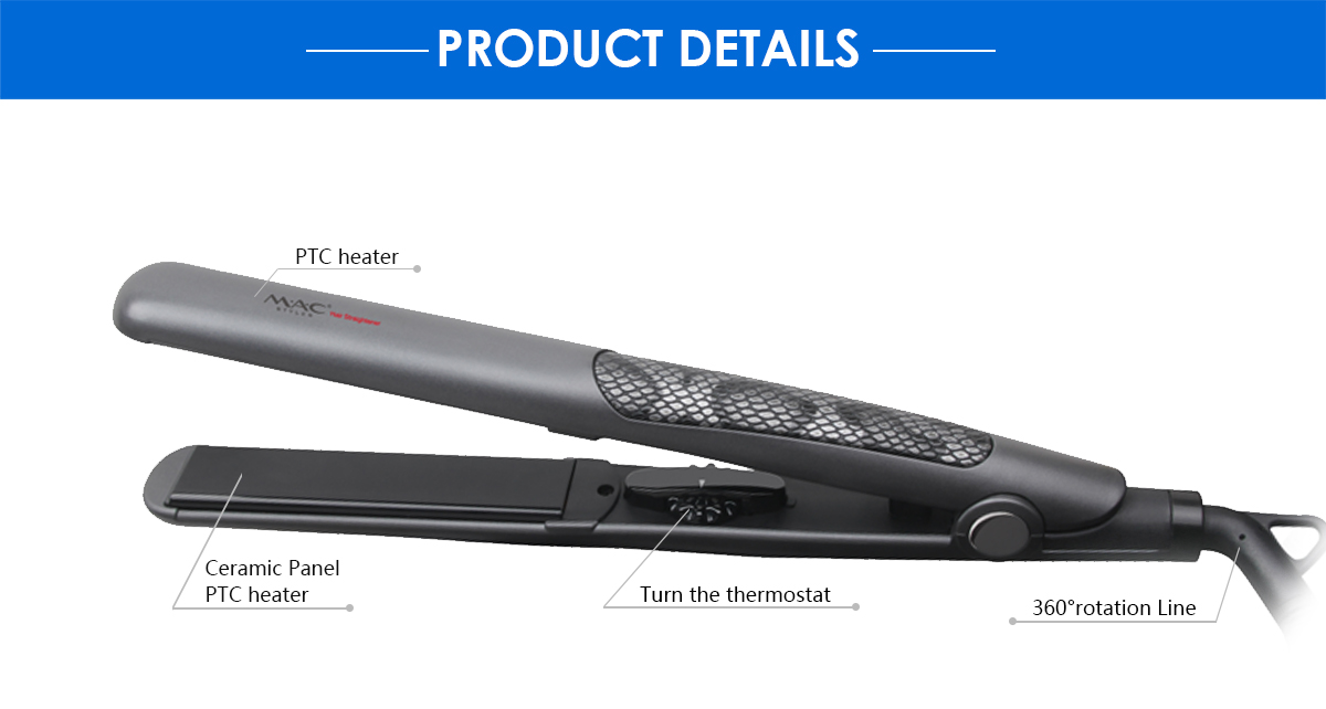 Young people very like to professional salon Ceramic Plate hair straightener for women use in home