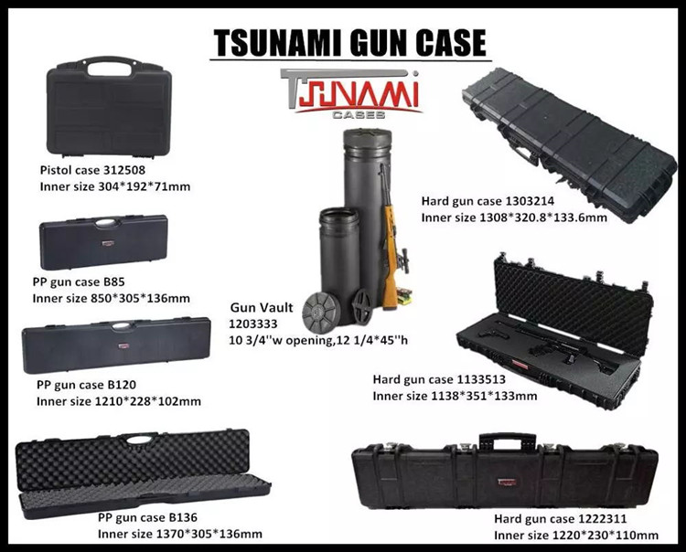 1133513D cheaper plastic hard gun case with foam