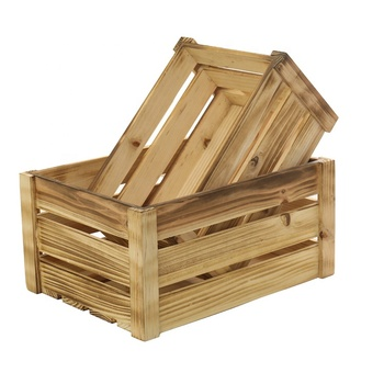 wholesale supermarket display wooden storage fruit crate
