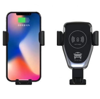 Q12 Wireless Charger for iPhone Samsung fast charger Automatic Qi 10W car mount Holder wireless charger for car