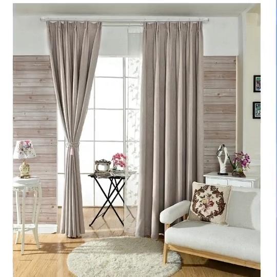 Venta caliente de la fábrica de telas para cortinas cortina de lino apagón hangzhou textil