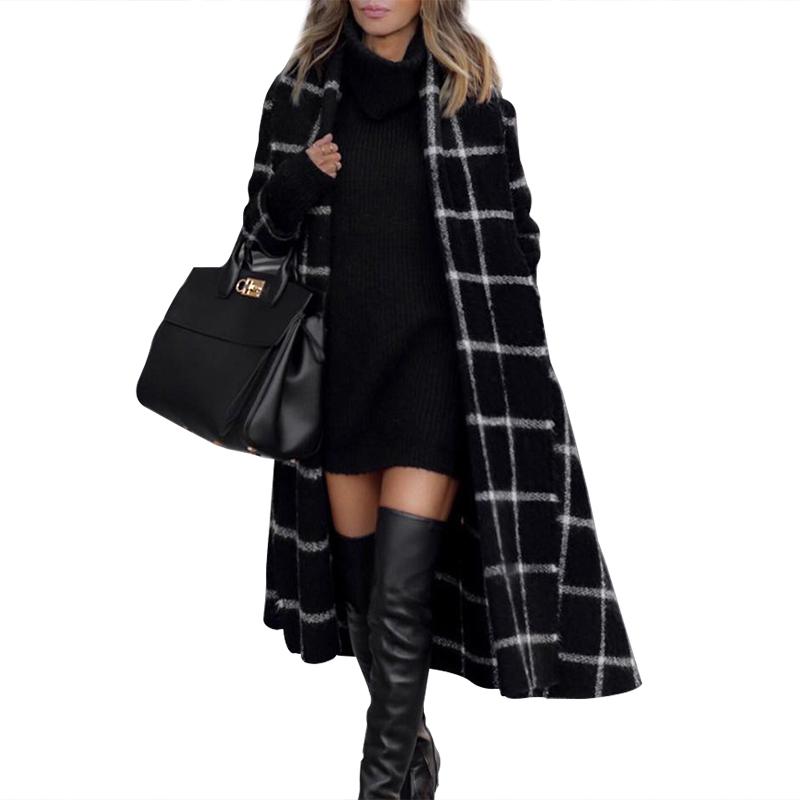 थोक देवियों ऊन खाई सर्दियों महिलाओं लंबे जैकेट कोट
