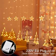 Елочный колокольчик Рождественский светодиодный гирлянда 2020 Рождественский Декор для дома сказочные огни счастливый новый год 2021 праздни...(Китай)