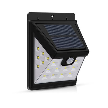 3 Sided Outdoor Waterproof Garden Powered Motion Sensor LED Solar Wall Light