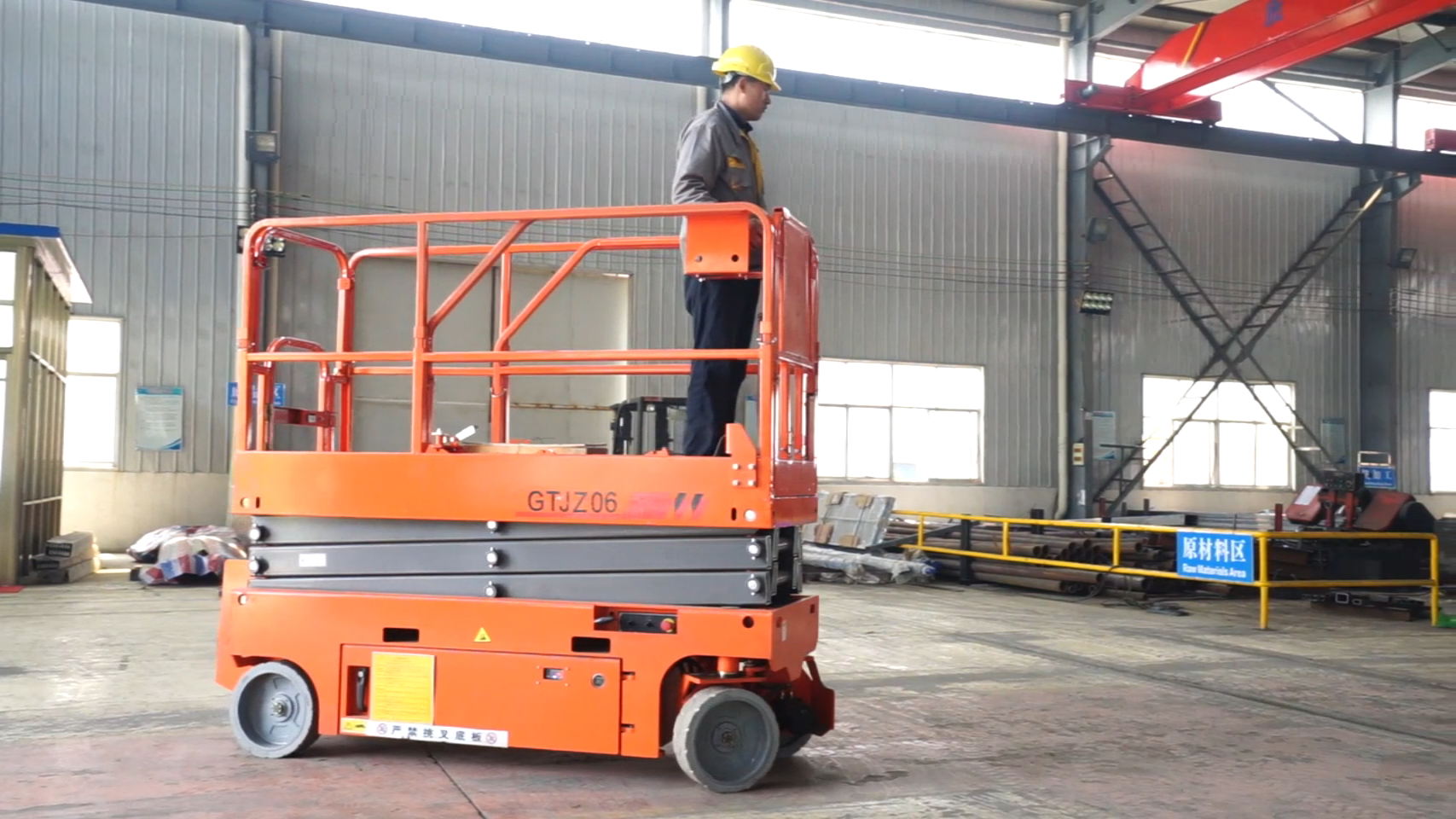 Auto Scissor Lift 12m Self propelled Scissor Lift hydraulic lift machine