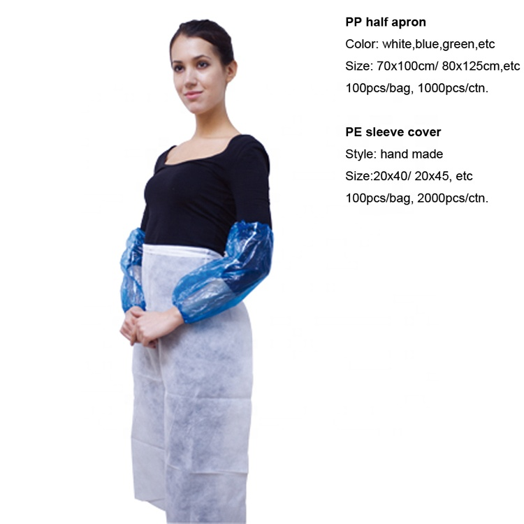China Manufacturer Disposable PP Nonwoven Kitchen Apron