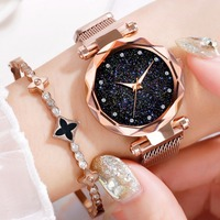 Hot Sale Luxury Women Ladies Watches Fashion Relogio Feminino Crystal Female Magnet Buckle Wristwatch Alloy Watches