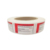 Custom design printing logo adhesive label white brand red foil stamping cute sticker