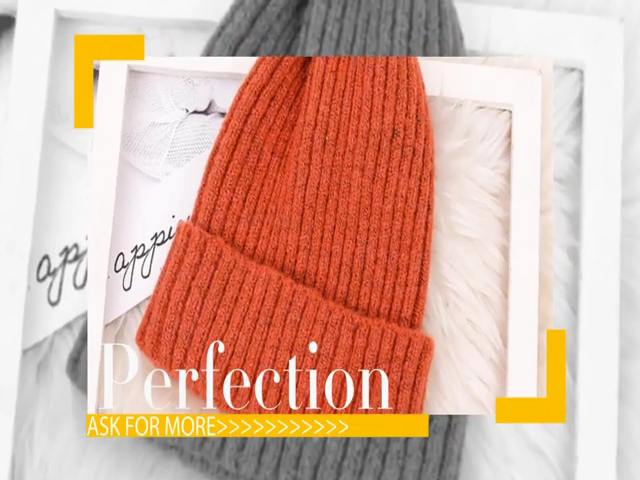 Wholesale popular adult beanie hats fashion solid color beanie hat knitted beanie outdoor sport autumn winter hat
