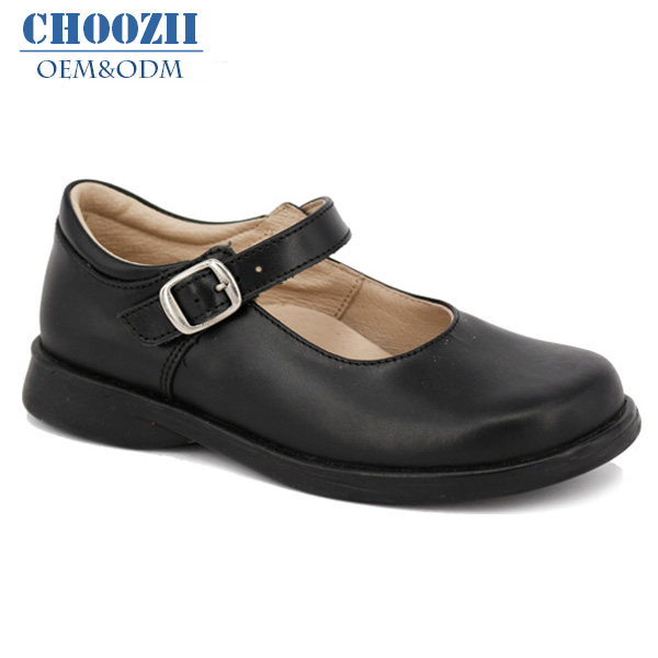 youth black school shoes