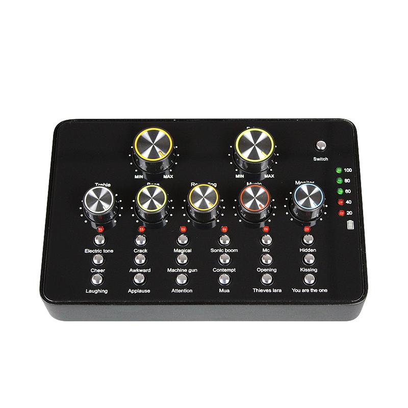 Baobaomi V10 Mixer Eksternal Ponsel Karaoke Suara Profesional Kartu Modul untuk PC