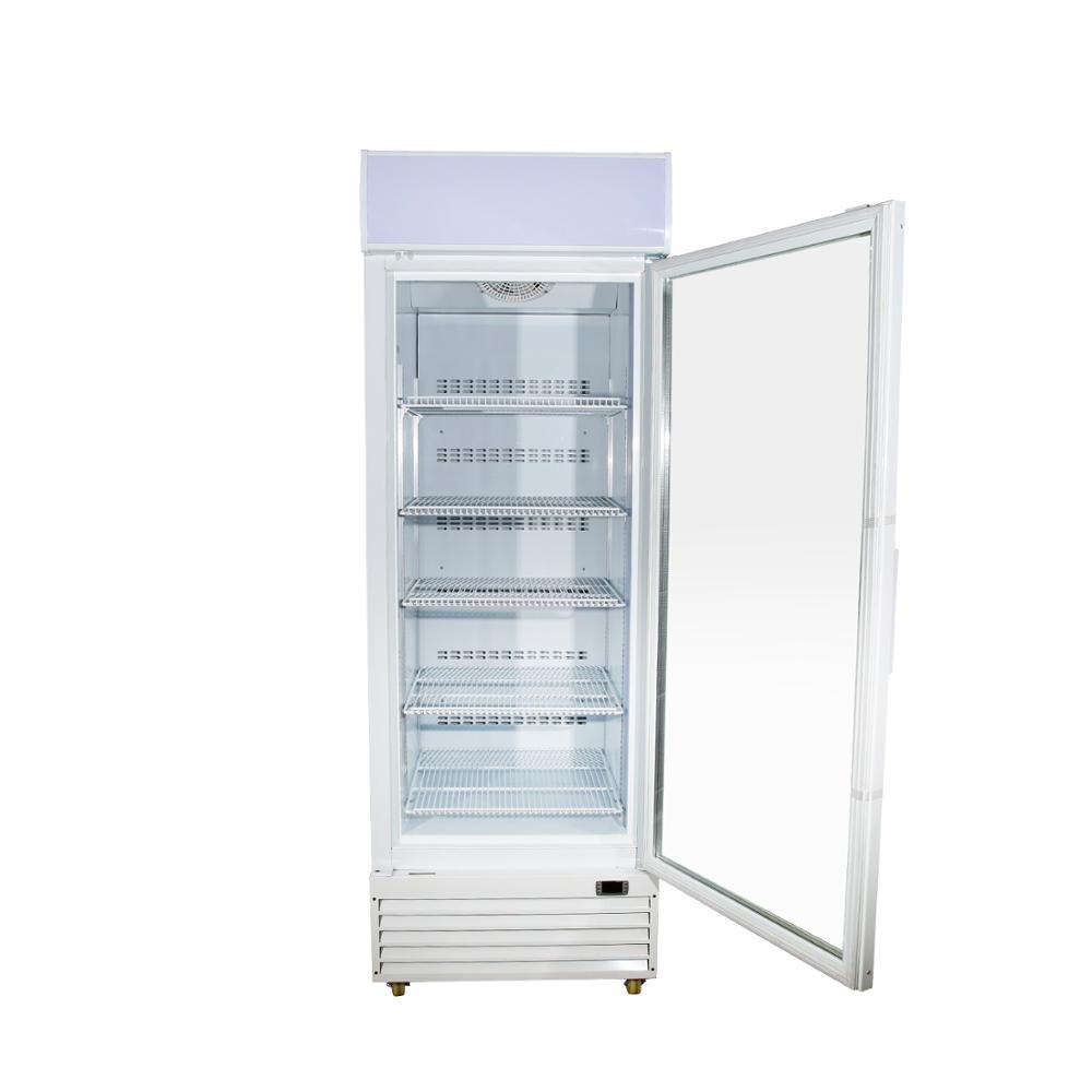 Low Noisy Vertical Glass Door Deep Display Ice Cream Refrigerator Freezer