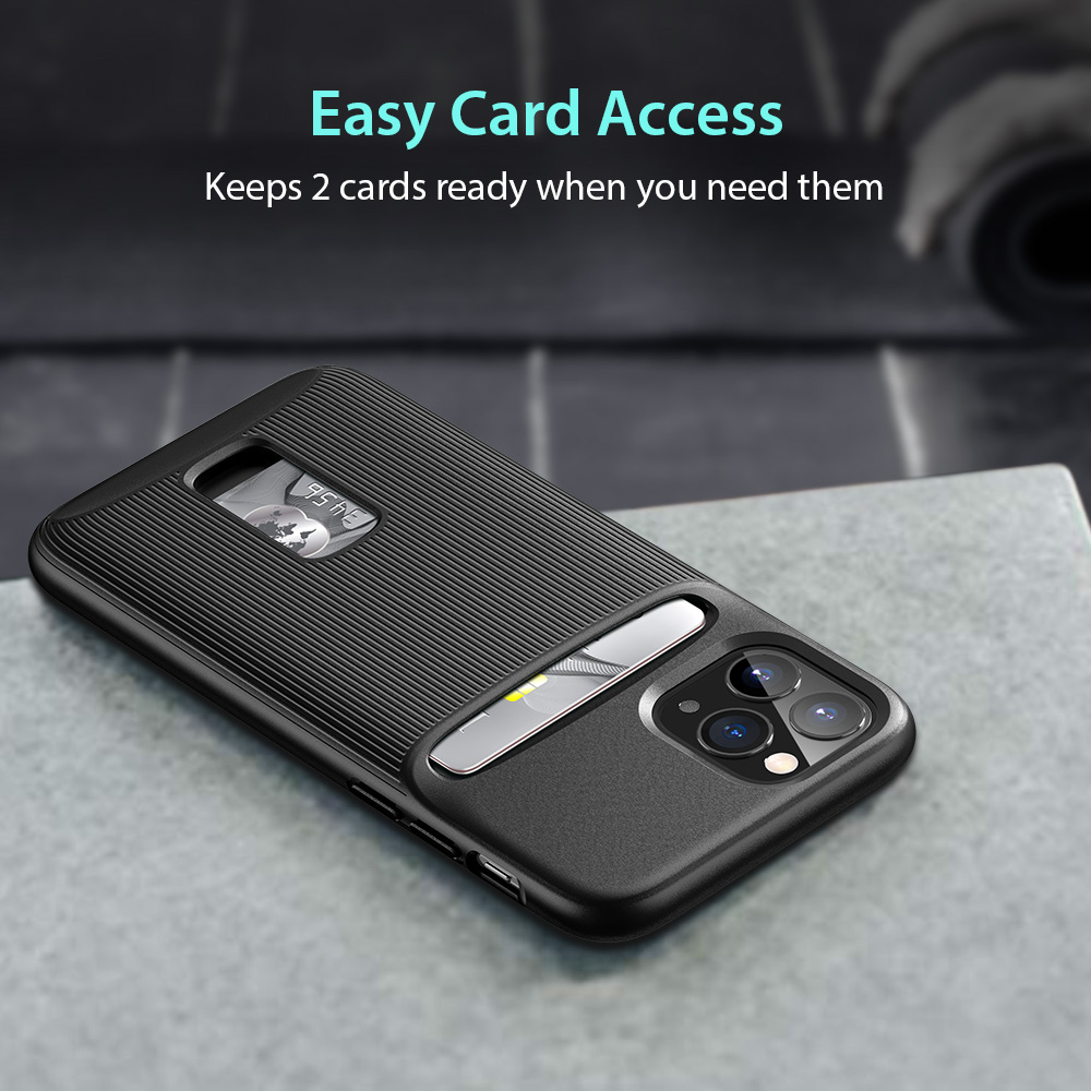 ESR Wallet Armor Series TPU Card Slot and Holder Scrath Resistant Mobile Phone Case For iPhone 11//11 pro //11 Pro max