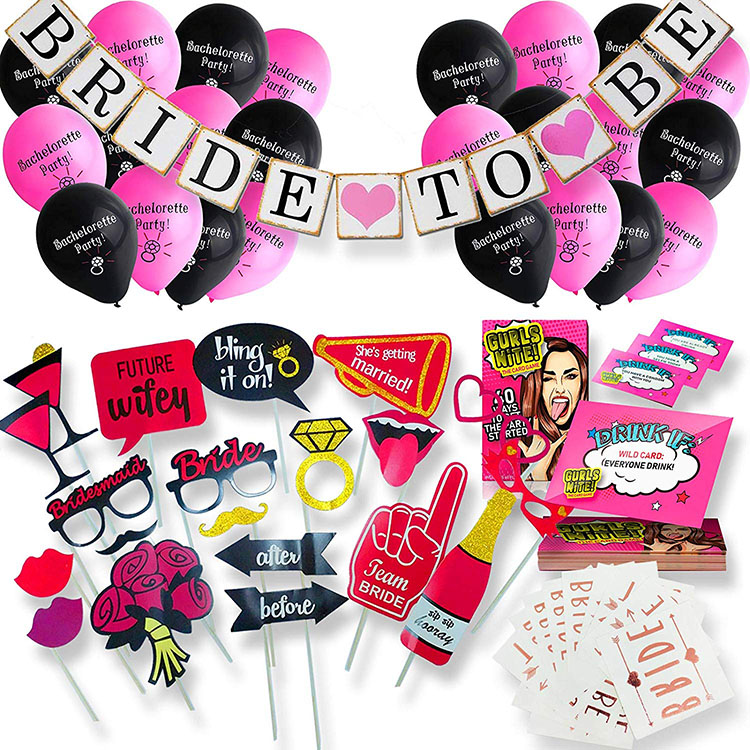 Nicro Engagement Bridal Shower Bachelorette Party Supplies Decorations Set