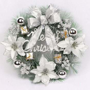 Christmas Wreaths for Front Door Hotel /Shopping Mall Hanging Garlands 30cm Christmas Wreaths With Light