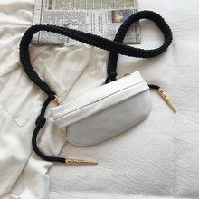 YIZHONG плетеная поясная сумка с узлом, роскошная дизайнерская нагрудная сумка, кожаная женская поясная сумка на молнии, сумка через плечо для ...(Китай)