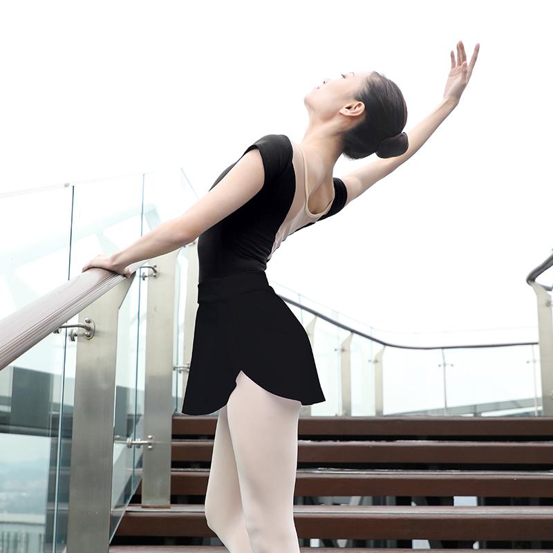 Adult Ballet Yoga Gymnastics Skirts Girls Women Side Split Short Skirt Ballerina Dance Practice Wear