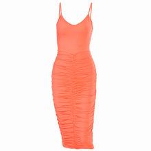 Simenual Ruched Bodycon многоярусные платья средней длины для женщин с низким вырезом на спине, без рукавов, вечерние Клубные Открытое платье без рука...(Китай)