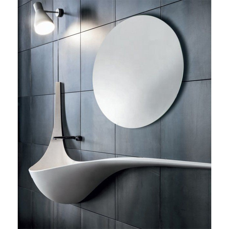 Luxury ห้องน้ำอ่างล้างหน้าสีขาวพื้นผิว wal ติดตั้งอ่างล้างหน้าออกแบบ
