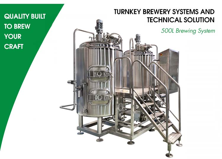 Beer brewing system 500L brewery equipment with 304 stainless steel
